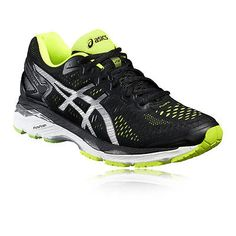5640bc965 Asics Gel-Kayano 23 Mens Black Lightweight Running Sports Shoes Trainers