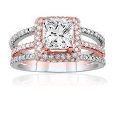 Paris jewelers white/rose gold ring. Beautiful.