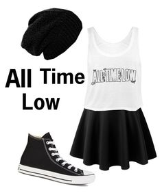 """""""All Time Low, Fixed"""" by colorful-trends ❤ liked on Polyvore featuring LE3NO and Converse"""
