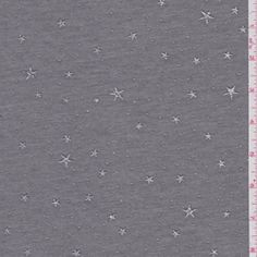 Dark Heather Grey Jersey Knit - Fabric By The Yard