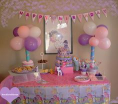 Handicraftiness- table set up for My Little Pony party