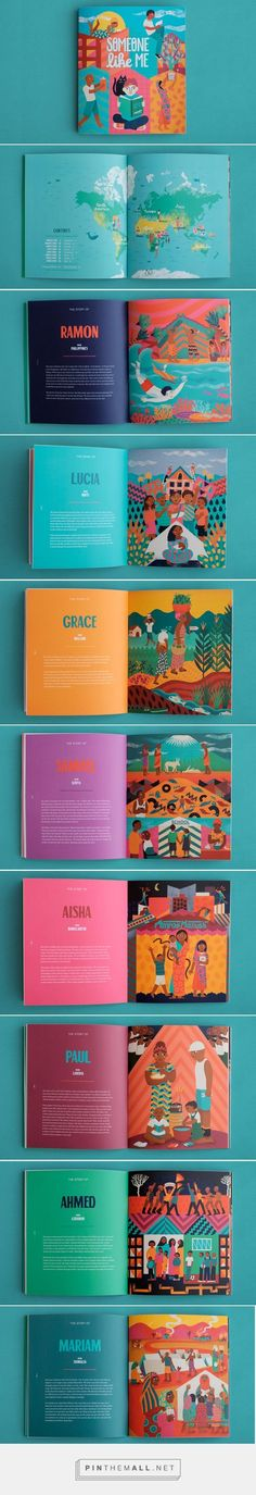 23 Ideas Book Layout Design Colorful For 2019 Web Design, Layout Design, Print Layout, Game Design, Editorial Design, Editorial Layout, Edition Jeunesse, Magazin Design, Buch Design