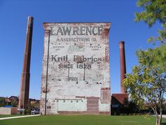 Lawrence Mfg ghost sign by wemcg via Flickr