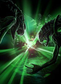 Green Lantern Vs. ALIENS by Sam Kennedy