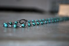 Wire Wrapped Gemstone Necklace  Blue Green  Teal  by letemendia, $57.00