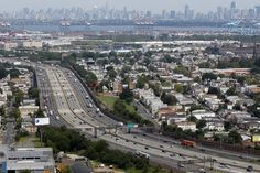 Suzy and Stella drive on the NJ Turnpike, I wonder if they got to see the NYC skyline like in this picture?!
