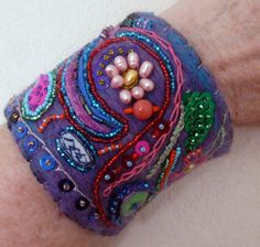 felted beaded cuff