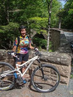 Bicycling in Acadia National Park Maine. More pics at this link: http://roadslesstraveled.us/acadia-national-park-carriage-roads-rockefeller-cycling/