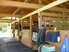 a simple barn. I love that there are no bars and that it is a very open concept.Even a simple barn. I love that there are no bars and that it is a very open concept. Barn Stalls, Horse Stalls, Dream Stables, Dream Barn, Horse Barn Plans, Horse Shelter, Small Barns, Farm Projects, Barns Sheds