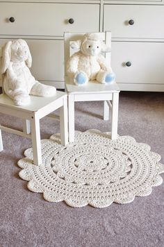 "Writing the Alicia doily rug pattern was a lot of fun, but I'm glad it's done! I made patterns for two sizes available. The small one (28"") ..."