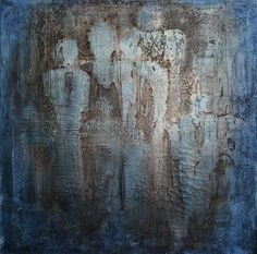 Today I had visitors - «The Angels», Mixed Media on canvas, 80 x 80 x 3,5 cm
