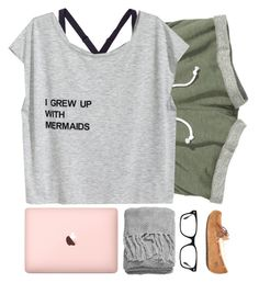 """""""Why am I so tired?"""" by simplesouthernlife01 ❤ liked on Polyvore featuring Under Armour, UGG Australia, H&M and Ray-Ban"""