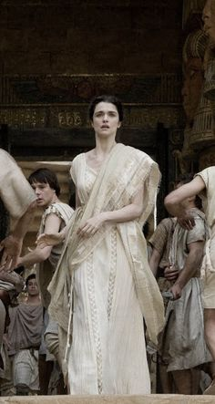 Great costume designs from Gabriella Pescucci in the film Agora. Not as ornate as the costumes in HBO's series Rome, but stunning none the less. There was a lot of great details to the wardrobe pieces, from intricate weaving to pleats. Hypatia had my favorite costumes.