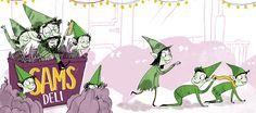 Halloween Goodnight - Ella Okstad #halloween #goodnight #zombies #mummies #imps #werewolves #goblins #globsters #ghosts #boggarts #vampires #bats #spooky #childrensbook #illustration #illustrator #kidlit #kidlitart #kidlitartist #artist #booksforkids #kidsbooks #raiseareader #read #book #ellaokstad