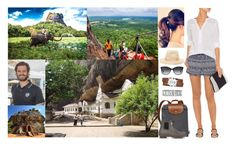 Visiting the Ancient Rock Fortress in Sigriya with Carl-Philip and Climbing it to the Top, then Visiting the Temples Nearby & Taking an Elephant Ride by louiseingrid-ofdenmark on Polyvore featuring polyvore fashion style LoveShackFancy Diane Von Furstenberg Hunter Movado Melissa Odabash Bulgari clothing