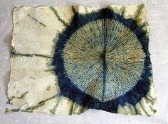Pamela McKee-Shibori                                                                                                                                                                                 More Shibori Fabric, Shibori Tie Dye, Fabric Art, Textile Dyeing, Textile Art, Japanese Textiles, Japanese Fabric, Fabric Dyeing Techniques, Creative Textiles