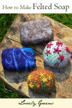How to make Felted Soap - a fun and creative craft that happens to be useful! Felt helps bar soap last longer and it feels great on your skin.