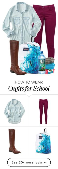 """""""Exact OOTD for School!"""" by red-velvet-n-pearls on Polyvore featuring Great Plains, Aéropostale, JanSport and Ciao Bella"""