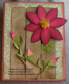 Stampin' Up!  Blossom Petals Punch  Susan Carlson  Clematis