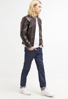 #Serge pariente leni giacca di pelle marron Marrone  ad Euro 121.00 in #Serge pariente #Uomo saldi abbigliamento