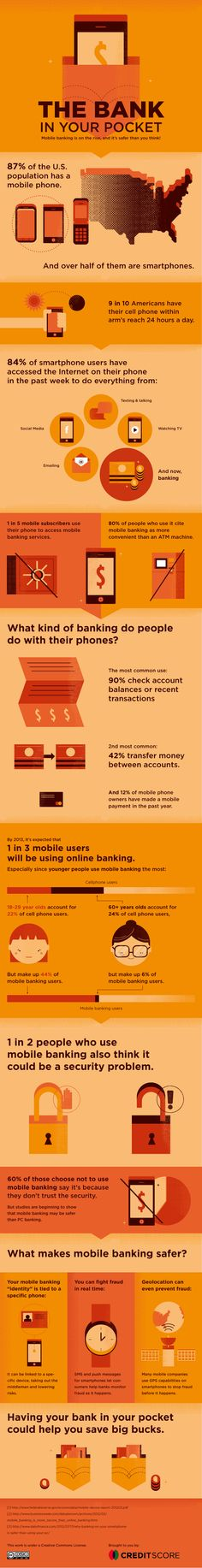 Mobile banking is safer than you think [CreditScore.Net] #banking #mobile
