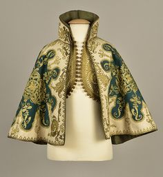 LOT 413 MIDDLE EASTERN METALLIC EMBROIDERED CAPE and VEST, 1890s