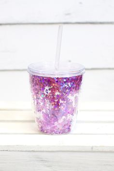 Throw a party...or at least we want to with this amazing loose confetti tumbler! The confetti moves around inside the double insulated walls for a fun vibe! Lid and straw included! All sales final on tumblers.
