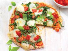 Tomato, Basil and Mozzarella Pizza