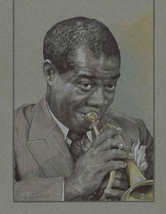 Louis Armstrong by ~mattlawrencestudio