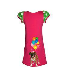 Roze ster boxer jurkje maakt deel uit van de nieuwe zomercollectie van janey . Geweldig voor een verjaardag of een feestje