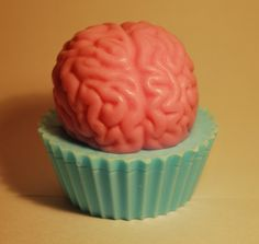 $7.00 Brain Cupcake Soap on Etsy by Foulmouth Soaps (the strawberry shortcake and mango tea ones smell awesome)