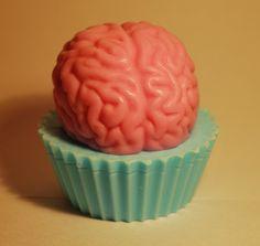 Zombie brain cupcake soap... love it!