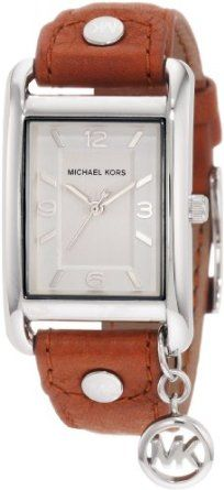 Michael Kors - Quartz Leather Rectangle Charm with Silver Dial Women's Watch - MK2165-- 14% DISCOUNT & FREE SUPER SAVER SHIPPING for a limited time!--->  http://amzn.to/17Ec64u