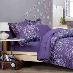 Purple comforter sets in various styles, prints and sizes. There is a purple comforter set for everyone. Purple Bedspread, Purple Comforter, Purple Bedding Sets, Best Bedding Sets, Queen Comforter Sets, Floral Bedding, King Comforter, Lavender Bedding, Boho Bedding