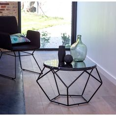 1000 ideas about table basse ronde on pinterest coffee - Table basse metal noir ...