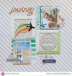 Summer Adventure Series: Fun Journey @pinkpaislee @akossakovskaya #pinkpaislee #ppAtlas #scrapbooking #diy