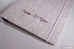 Hochzeitsplaner . wedding planner . personalisiert www.Maultaeschle-Filz.de