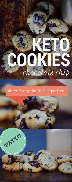Chewy Chocolate Chip Cookies: Real Salt & Almond (Keto, Paleo, Sugar-free) | Castaway Kitchen