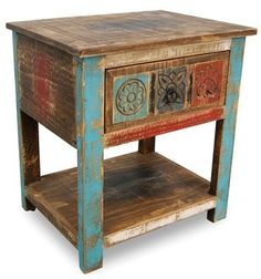 Horizon Home 'Bombay' Carved Nightstand