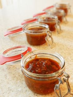 tomato jam with garlic and brown sugar