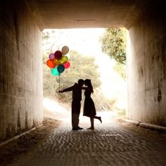 Engagement session inspired by the movie Up!
