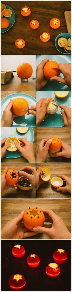 Apelsin lykta till julen