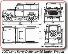 LR DEFENDER 90 STATION - drawing