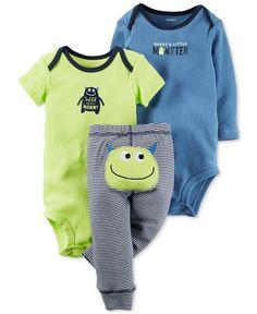 Carter's Baby Boys' 3-Pc. Monster Bodysuits & Pants Set - Baby Boy (0-24 months) - Kids & Baby - Macy's
