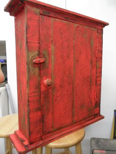 Primitive Wall Cabinet Kitchen Jelly Cupboard French Country