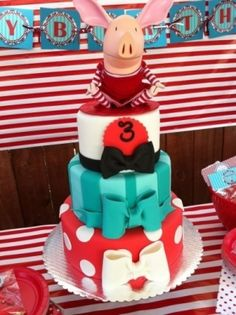 Olivia The Pig  By Dolledupcakes on CakeCentral.com by luella