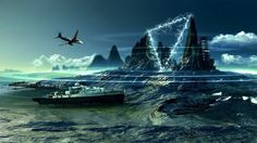 Bermuda Triangle is the greatest unsolved mystery of the modern age. Also called Devil's Triangle. It is a triangular shaped area in the North Atlantic Ocean, from Bermuda Island to Mi. Atlantic Ocean, Pacific Ocean, Alaska, Le Triangle, Bermuda Triangle Facts, Bermuda Shorts Women, Porto Rico, Mysterious Places, Mysterious Events