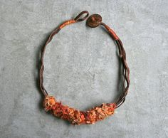 Minimal  boho necklace / handmade / upcycled /unique piece / bohemian / ecofriendly