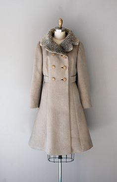 vintage 1960s Volga coat #vintage #vintagecoat #mod #fur #1960s
