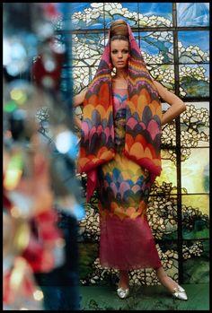 Gordon Parks, Veruschka Models Dress by Pauline Trigère for Vogue, 1965